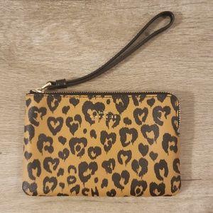 *NEW* Leopard Print Coach Wristlet